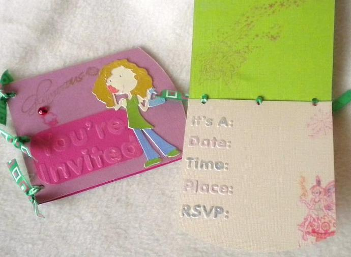 Girl, you are invited to the party - set of 5
