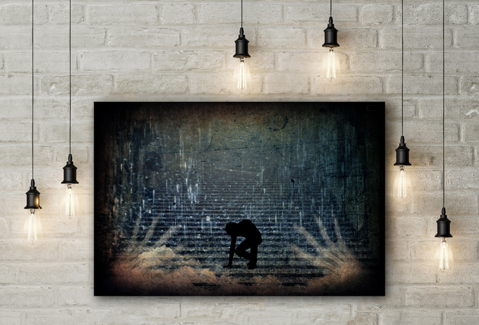 """Drained"" - PTSD Art Series - Art Therapy - Print"