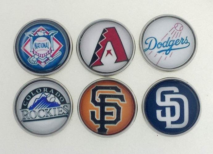 Baseball snap charms, Baseball Snap, Snap Charms, Arizona Diamondback, SF