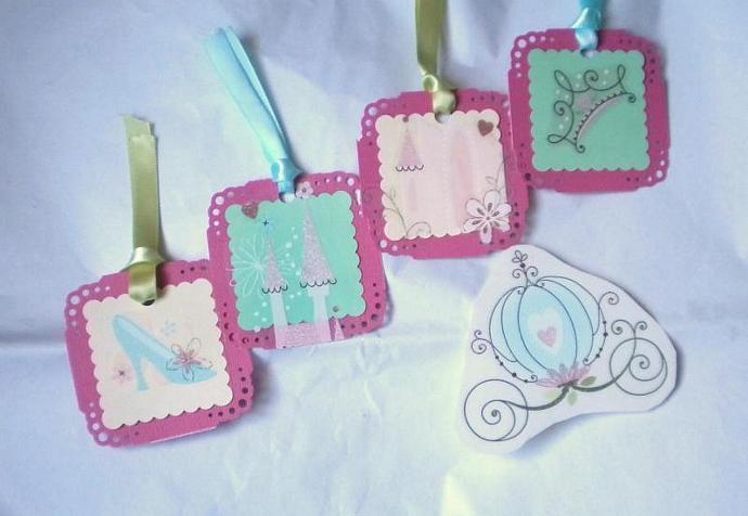 Princess gift tags- set of 4