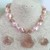 Rose Pink Pebble Pearl and Quartz Necklace and Earring Set