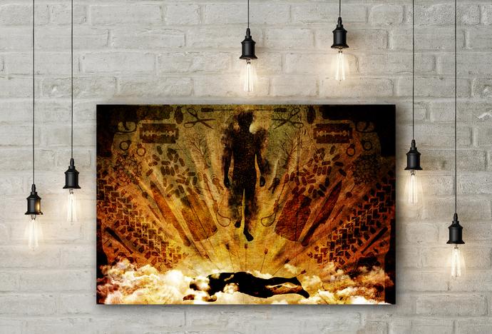 """Haunted"" - PTSD Art Series - Art Therapy - Print"