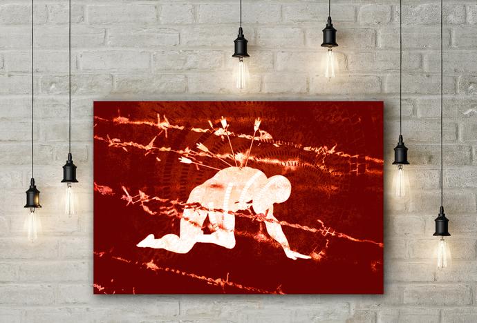"""Pain"" - PTSD Art Series - Art Therapy - Print"