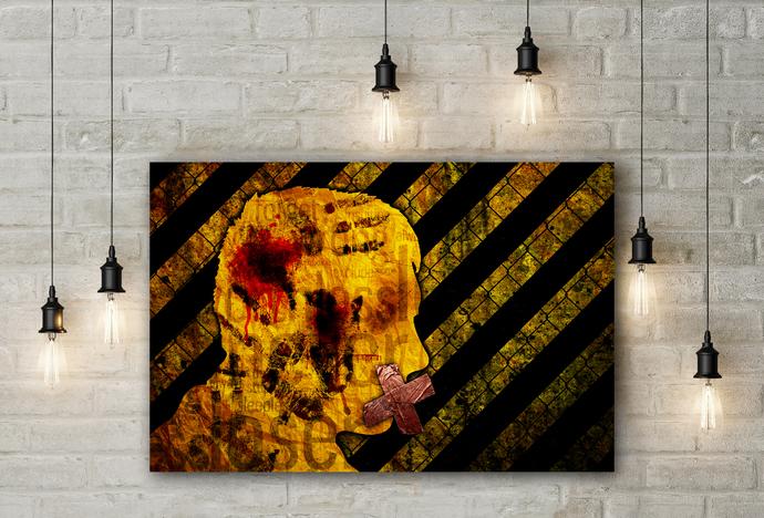 """Silence"" - PTSD Art Series - Art Therapy - Print"