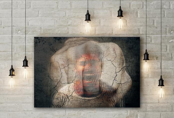 """Wrath"" - PTSD Art Series - Art Therapy - Print"