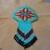 Native American Style Square Stitched Geometric design hair barrette