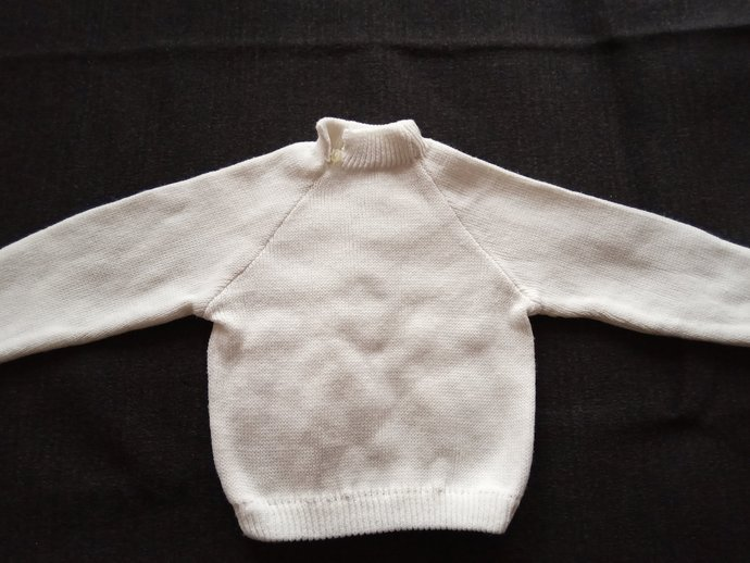 Kids Knitted Costume , White Vintage Kids Costume, Kids Winter Clothes