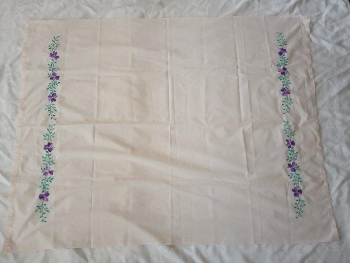 Women vintage scarf, hand Embroidered Scraf