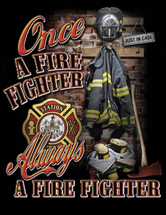 Once A Fire-Fighter Cross Stitch Pattern***LOOK***  ***INSTANT DOWNLOAD***