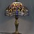 Colorful Tiffany style Table Lamp Desktop with Art Nouveau Dragonfly Design Art