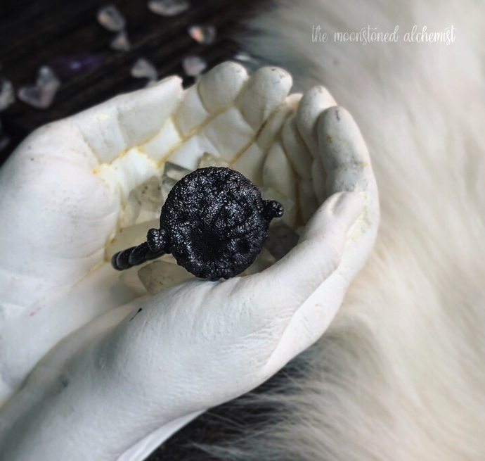 Hand Sculpted Moon Rings with Twisted Band