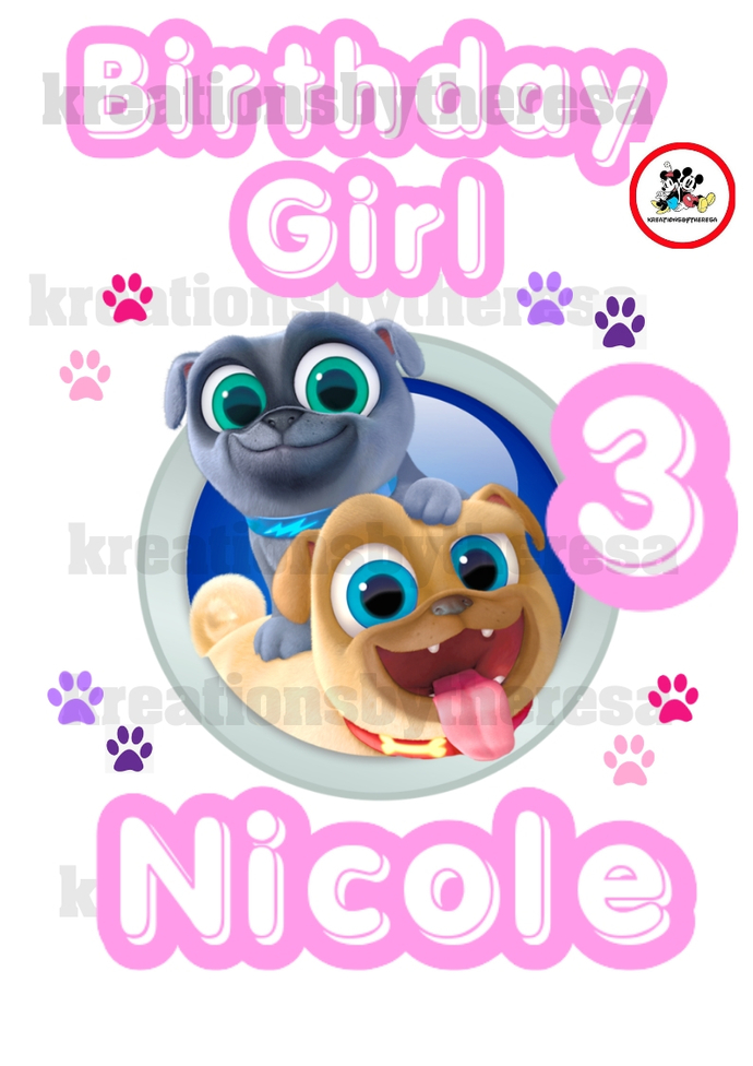 Puppy Pal Dogs /Puppy Pal Dogs Shirts/Birthday Girl/Iron On Transfer/Family