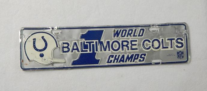 Vintage Baltimore Colts 1970 Championship Mini license Plate