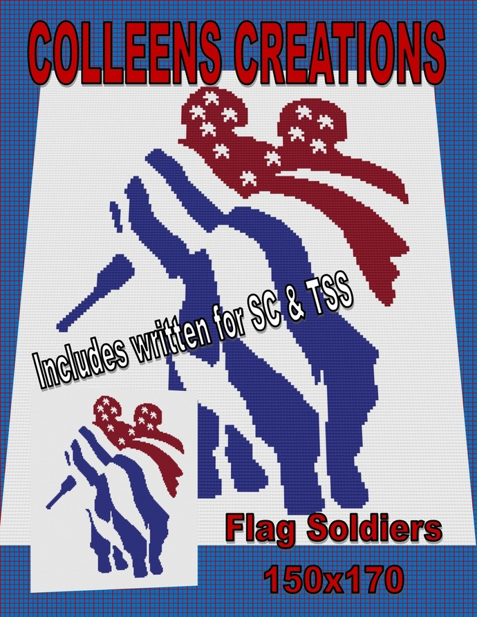 Flag Soldiers Crochet Written & Graph Design