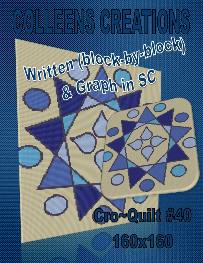 CroQuilt #40 Crochet Written & Graph Design