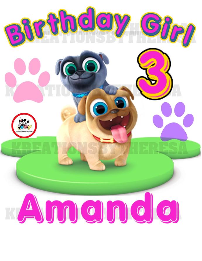 Puppy Dog Pal/Puppy Dog Pal Birthday Girl/Birthday Shirt/Family Shirts/ On
