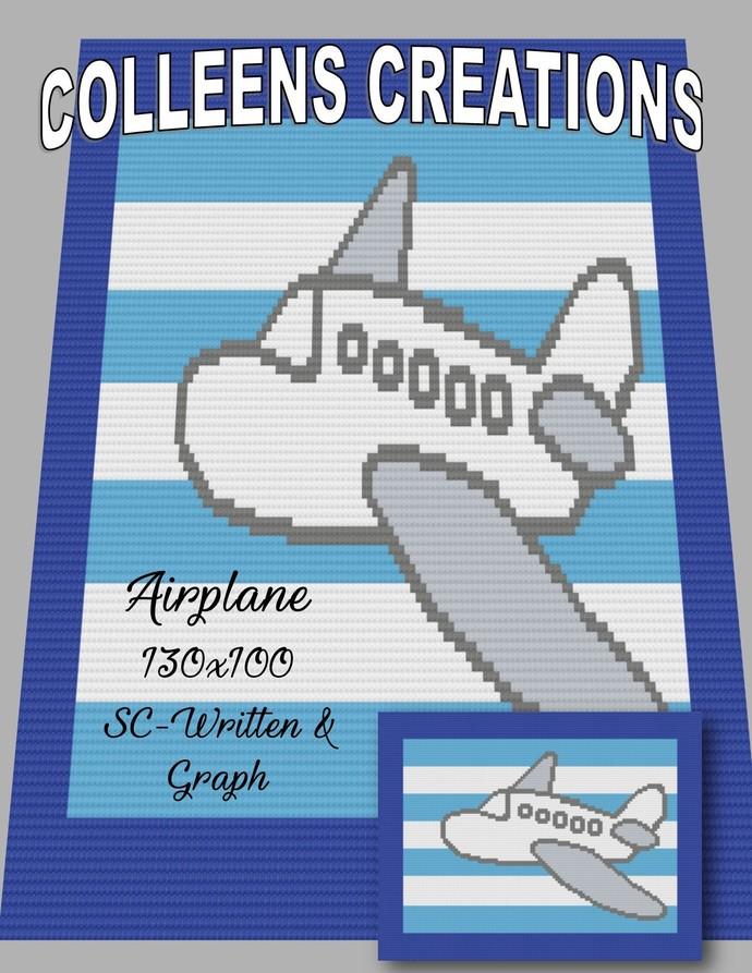 Airplane Crochet Written and Graph Design