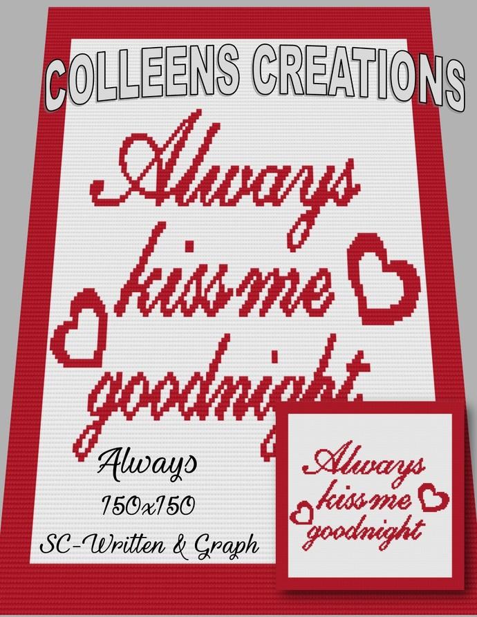 Always -Crochet Written and Graph Design