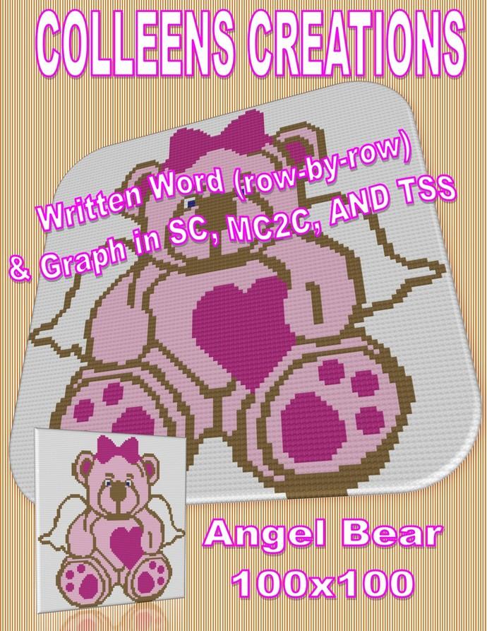 Angel Bear Crochet Written and Graph Design