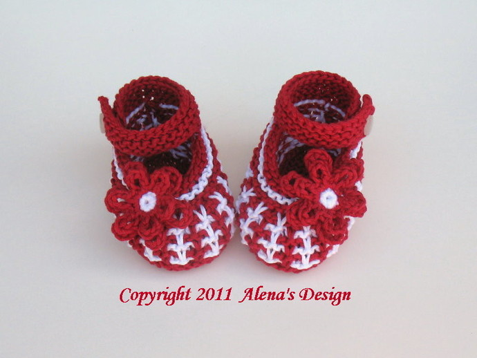 Baby Shoes Knitting Pattern 032 Knitting Booties Pattern Knit  Booties Newborn