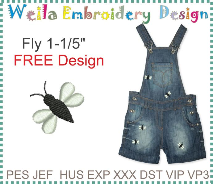 Free Design Fly stitch design for Clothes decoration Machine Embroidery pes jef