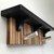 Modern Coat Rack Shelf in Recycled Wood with Black Painted Top
