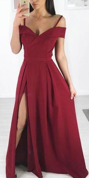 a3fd78a7cc1 Charming Burgundy Evening Dress