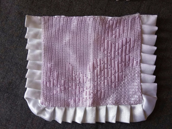 Crocheted Pink Pillow Cases, Pair of Pink Vintage, Handmade Pillow Cases