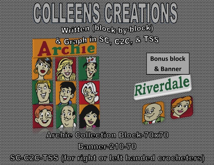 Archie Block Blanket Collection Crochet Written and Design