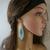 Blue White Native American Beaded Earrings, Long Fringe Earrings, Boho, Tribal,