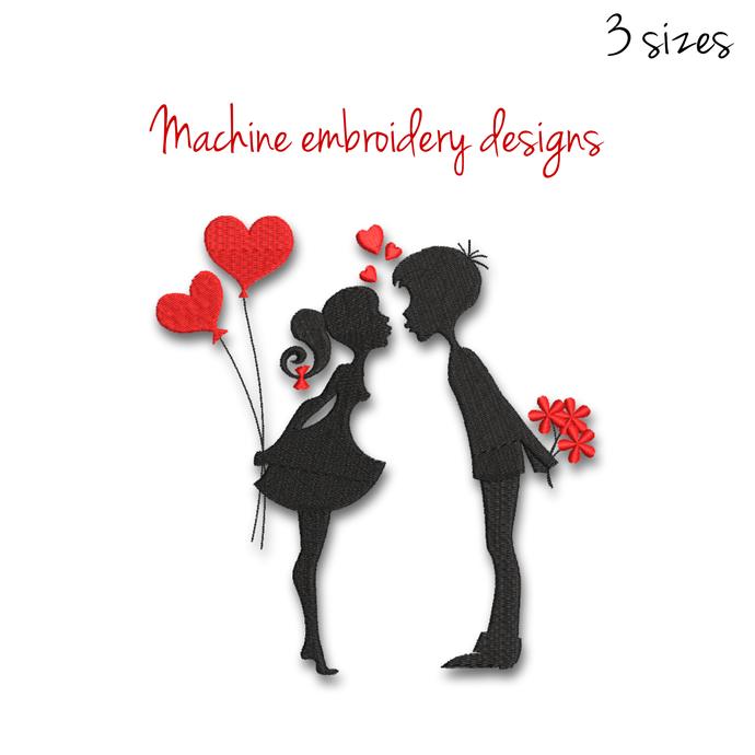 Embroidery Machine Design valentine cute love heart pes