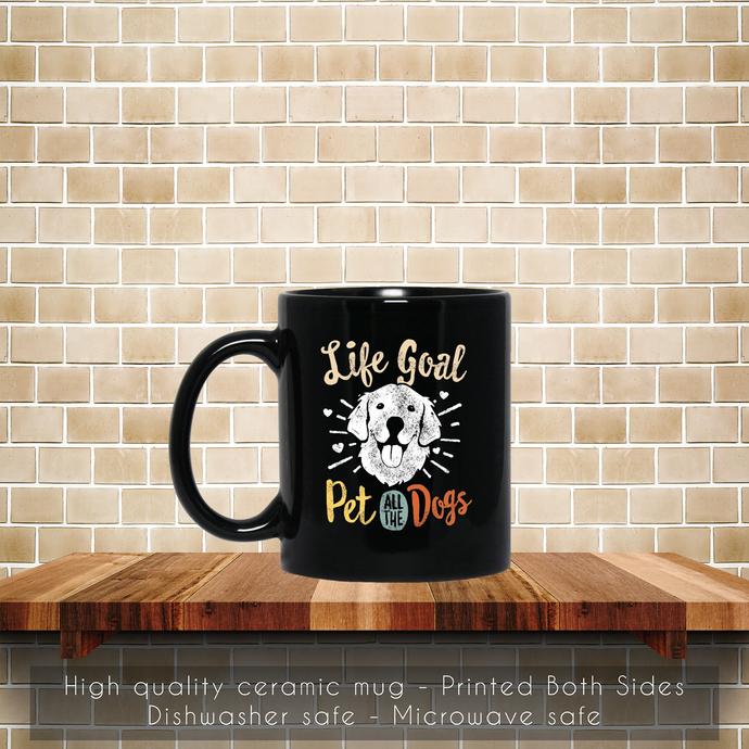 Life Goal Pet All The Dogs Golden Retriever Coffee Mug, Tea Mug, Coffee Mug, The