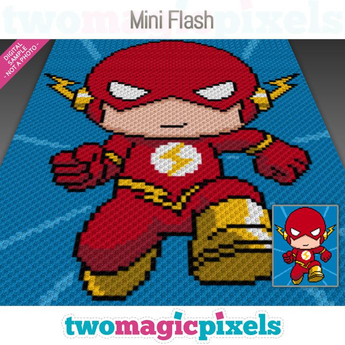 Mini C2c Pattern: Mini Flash Crochet Graph (C2C, Mini C2C,