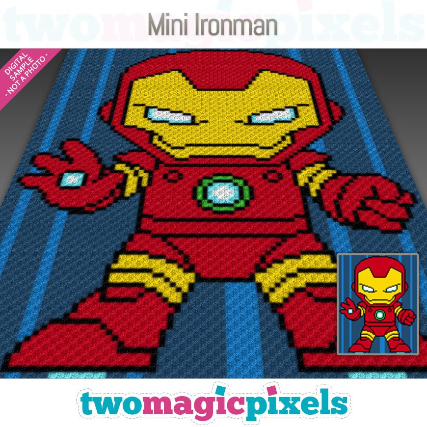 Mini C2c Pattern: Mini Ironman Crochet Graph (C2C, Mini C2C,