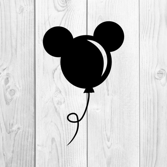 Mickey Mouse Ballon Disney Graphics SVG Dxf EPS Png Cdr Ai Pdf Vector Art