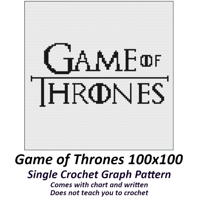 Game of Thrones Crochet Graph Pattern 100x100