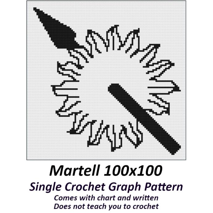 Martell Crochet Graph Pattern 100x100