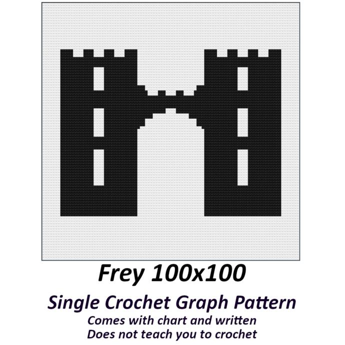 Frey Crochet Graph Pattern 100x100