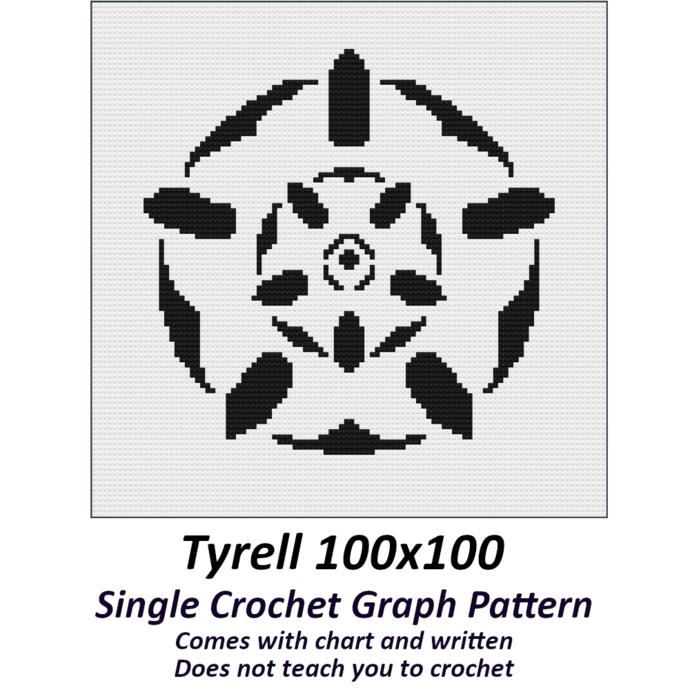 Tyrell Crochet Graph Pattern 100x100