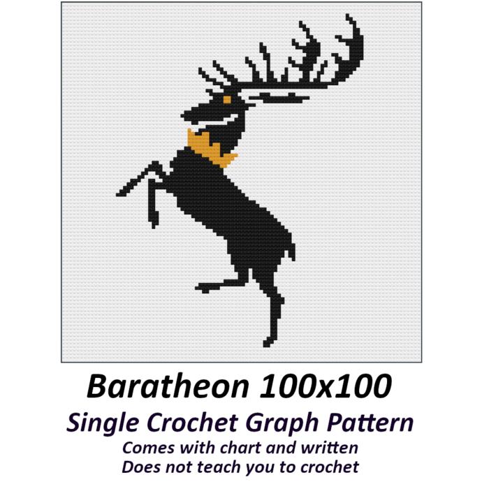 Baratheon Crochet Graph Pattern 100x100