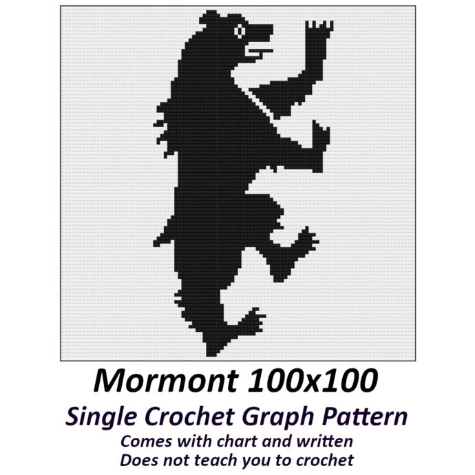 Mormont Crochet Graph Pattern 100x100