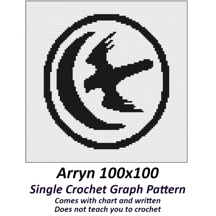 Arryn Crochet Graph Pattern 100x100