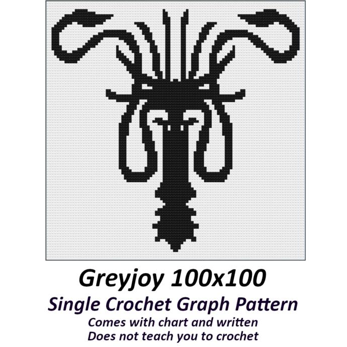Greyjoy Crochet Graph Pattern 100x100