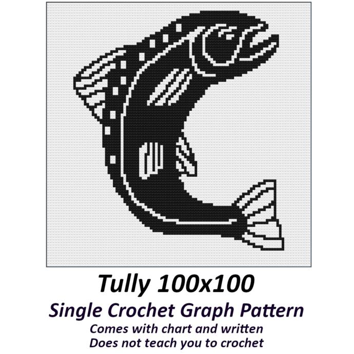 Tully Crochet Graph Pattern 100x100
