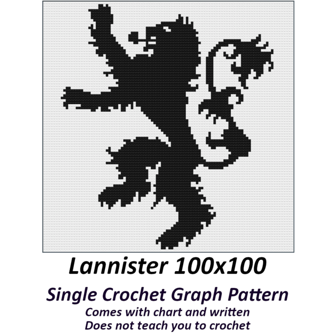 Lannister Crochet Graph Pattern 100x100