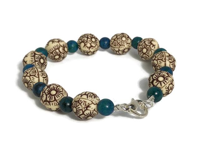 Flower bracelet  Bridesmaid bracelet