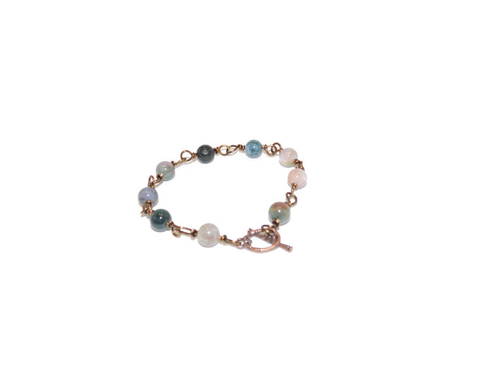 Wire wrapped bracelet| Indian agate bracelet