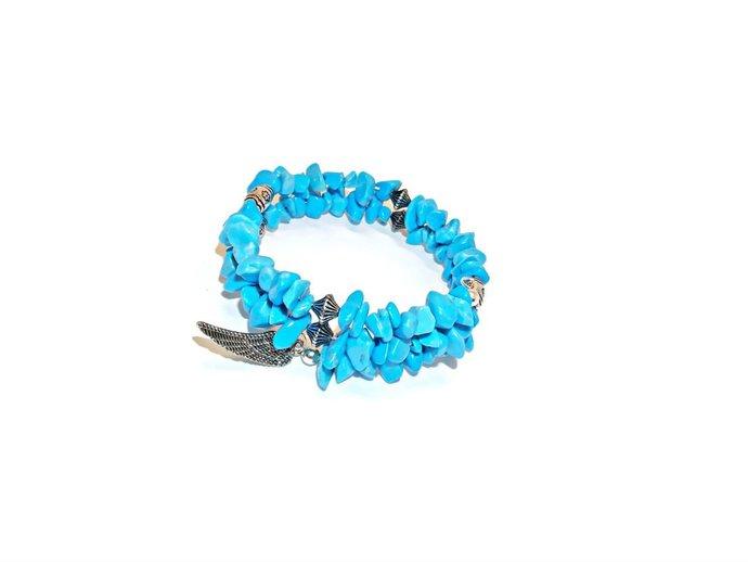 Turquoise wrap bracelets for women
