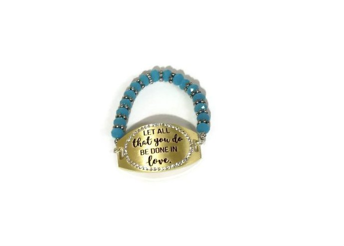 Let all that you do be done in love bracelet