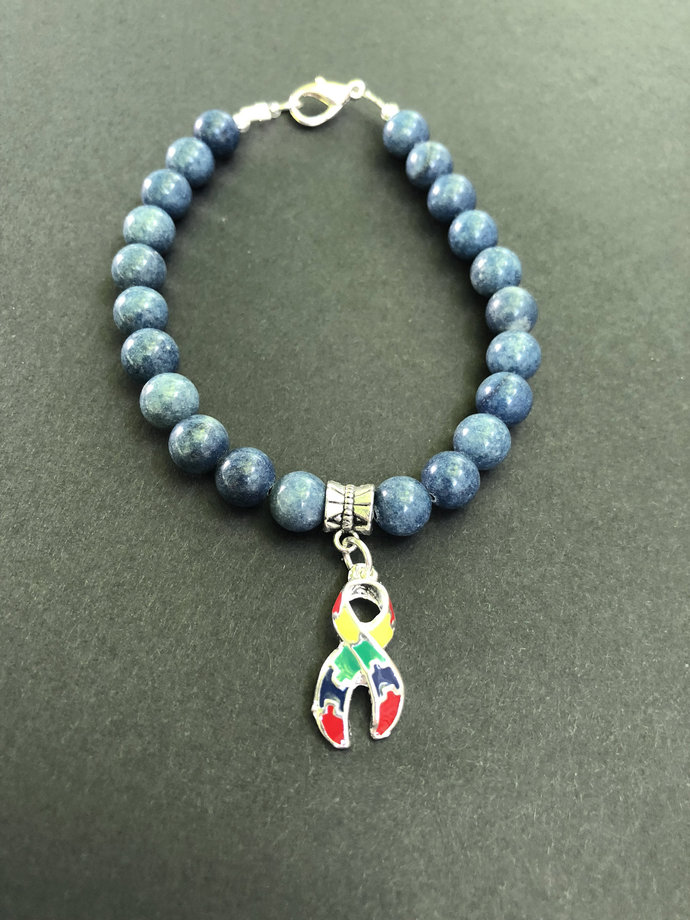 Blue Autism bracelet  Autism awareness bracelet